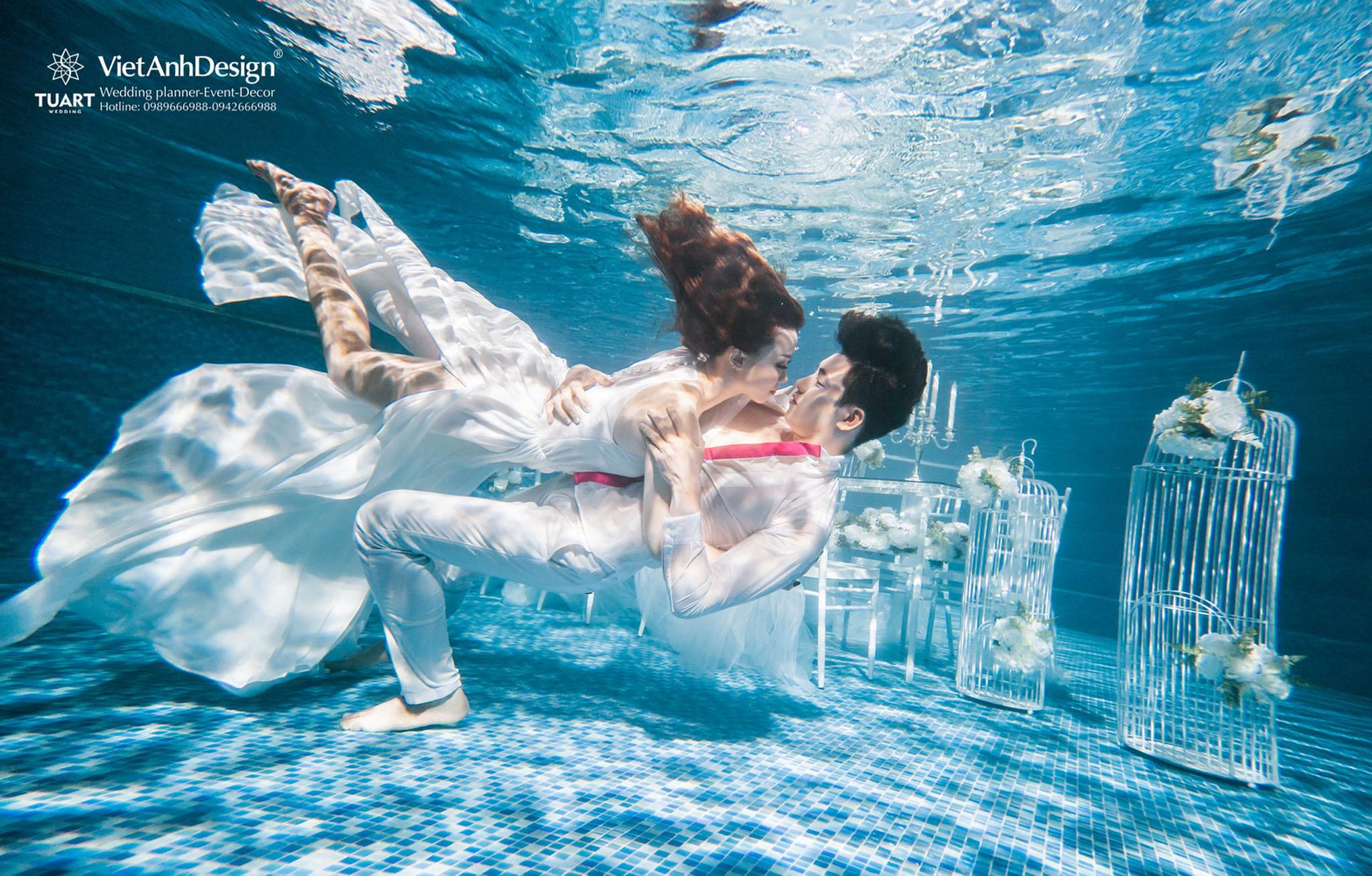 Kinh nghiệm chụp ảnh cưới đẹp và lãng mạn ở dưới nước