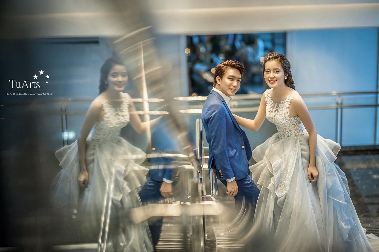 Lộ ảnh cưới của Á hậu Huyền My với hot boy Bê Trần