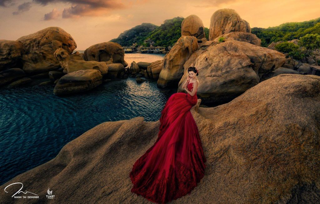 chụp ảnh cưới đẹp tại resort Ngọc Sương Nha Trang