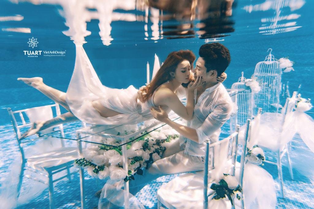 chụp ảnh cưới dưới nước đẹp