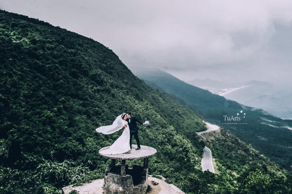chụp ảnh cưới ở đèo hải vân