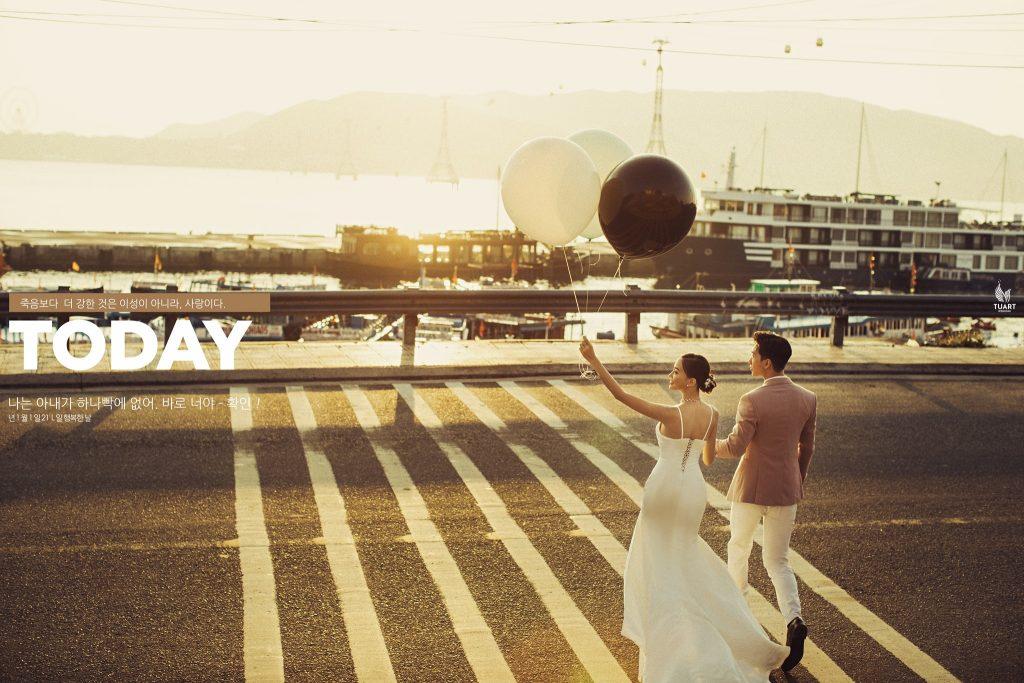 chụp ảnh cưới đẹp phong cách đường phố