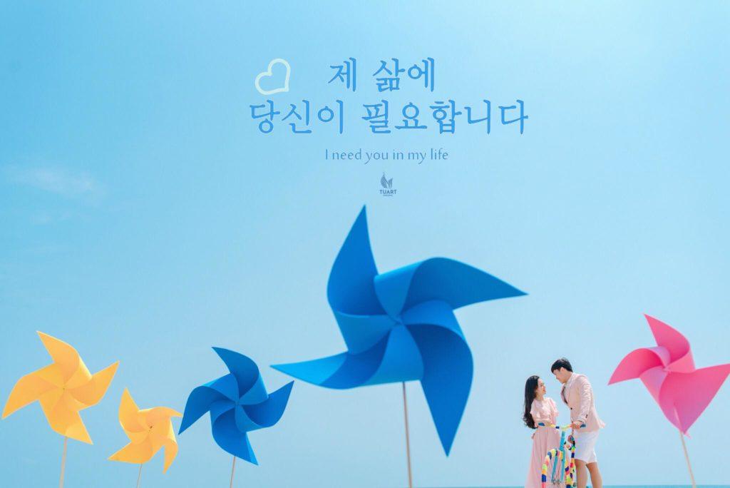 Album chụp ảnh cưới Mỹ Khê-Chong chóng quay khi trời xanh có nắng