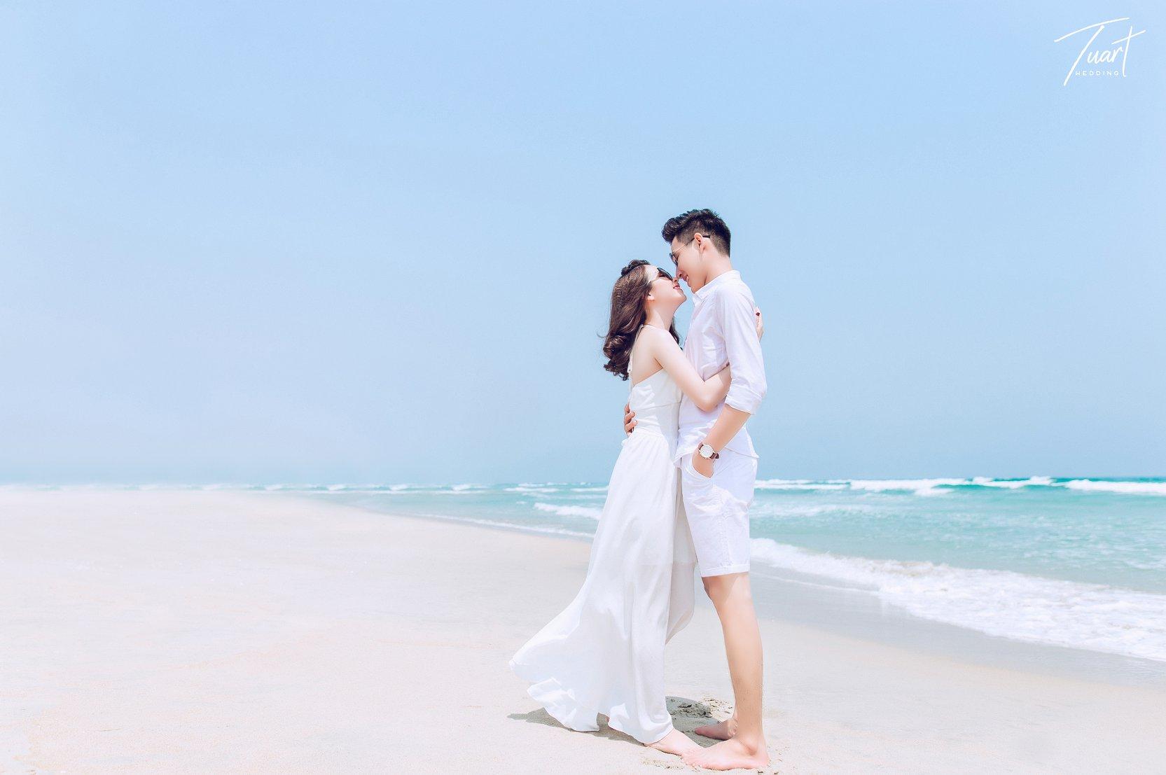 Album chụp ảnh cưới đẹp biển Mỹ Khê: Trang-Khôi 1