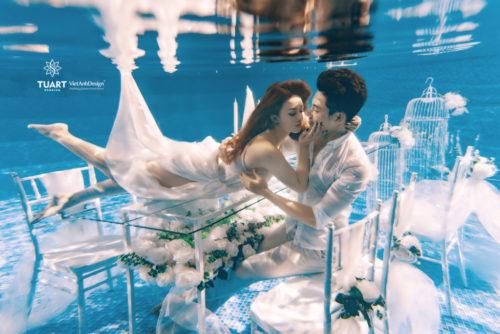 Chụp ảnh cưới dưới nước sao cho đẹp?