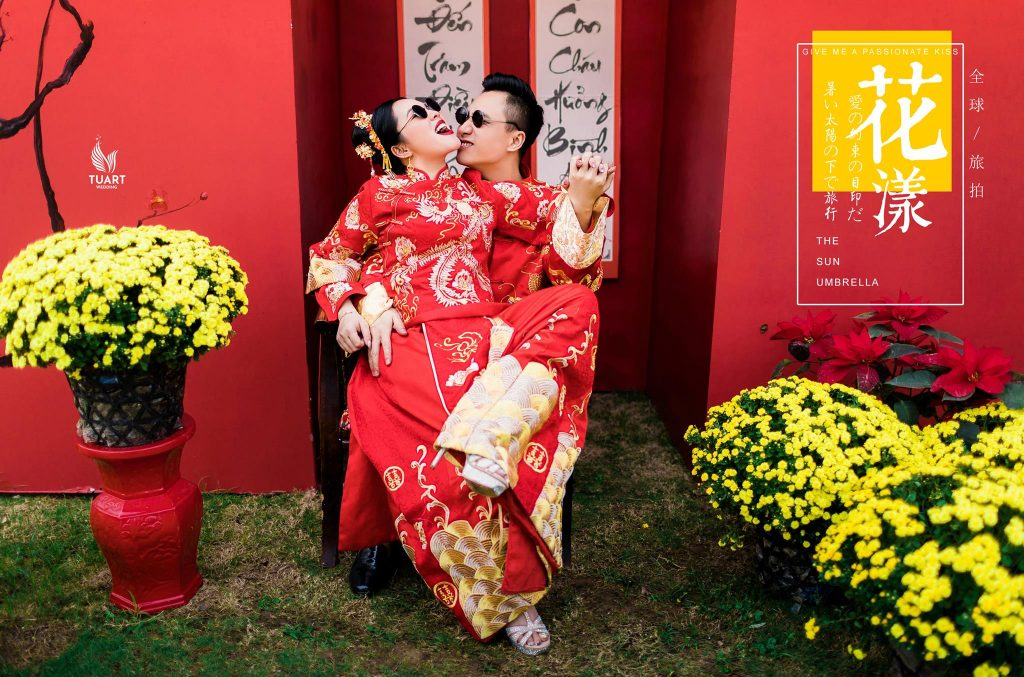 Album trang phục cưới Trung Hoa tại Hà Nội