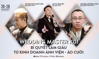 WEDDING MASTER K02 – Bí quyết kinh doanh thành công ảnh viện – áo cưới