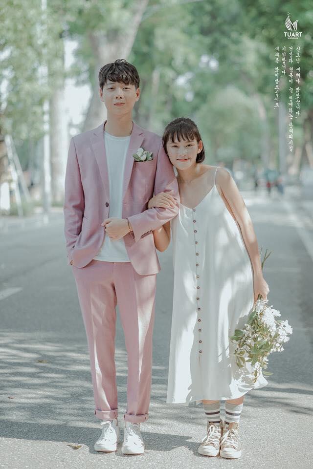 chụp ảnh cưới đẹp phóng cách hàn quốc