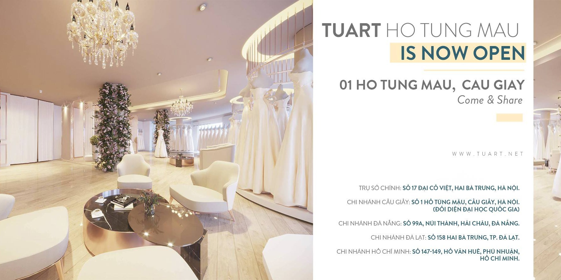 TuArt Cầu Giấy is opening