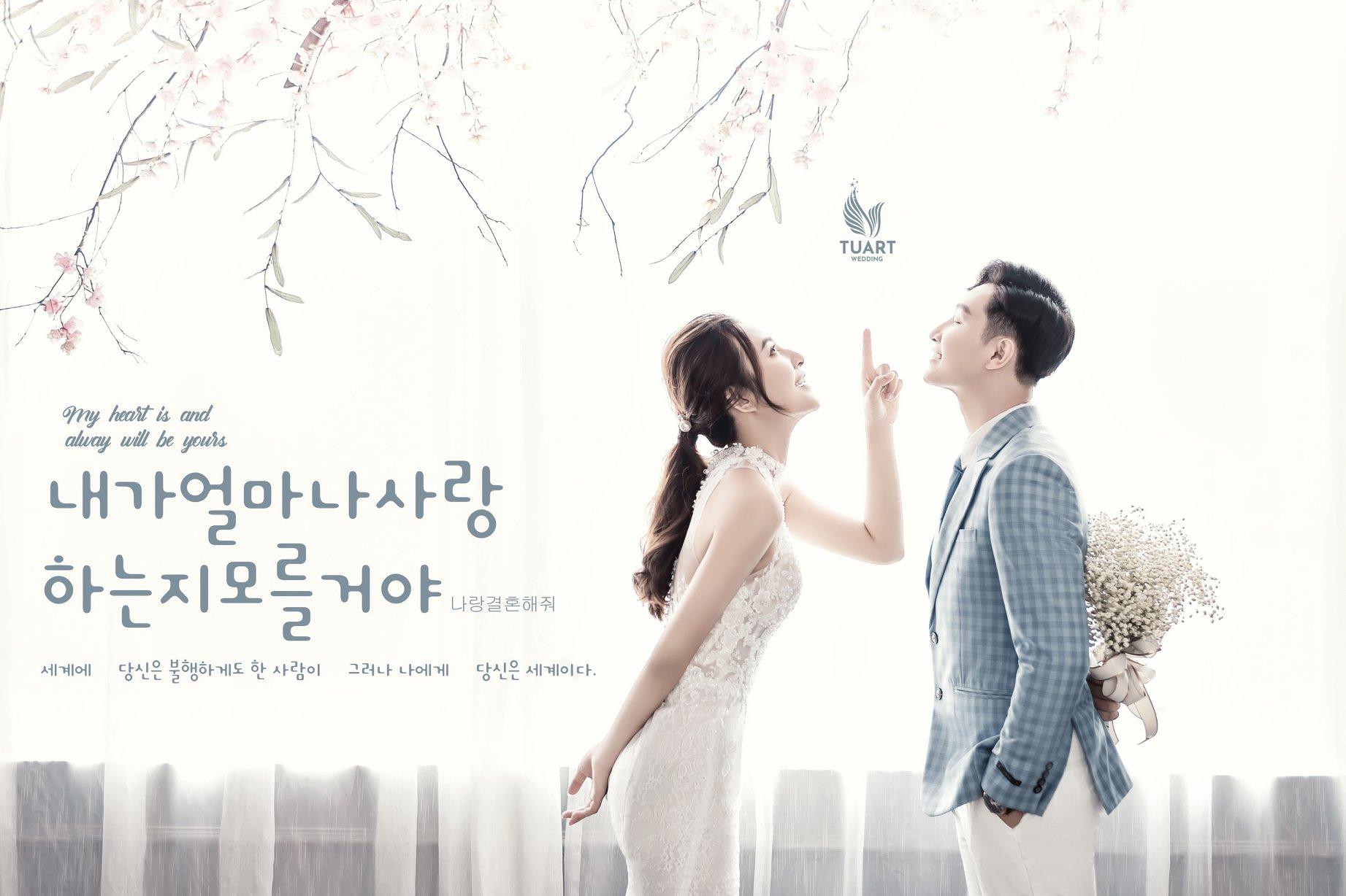Album ảnh cưới Hàn Quốc tại Studio 1