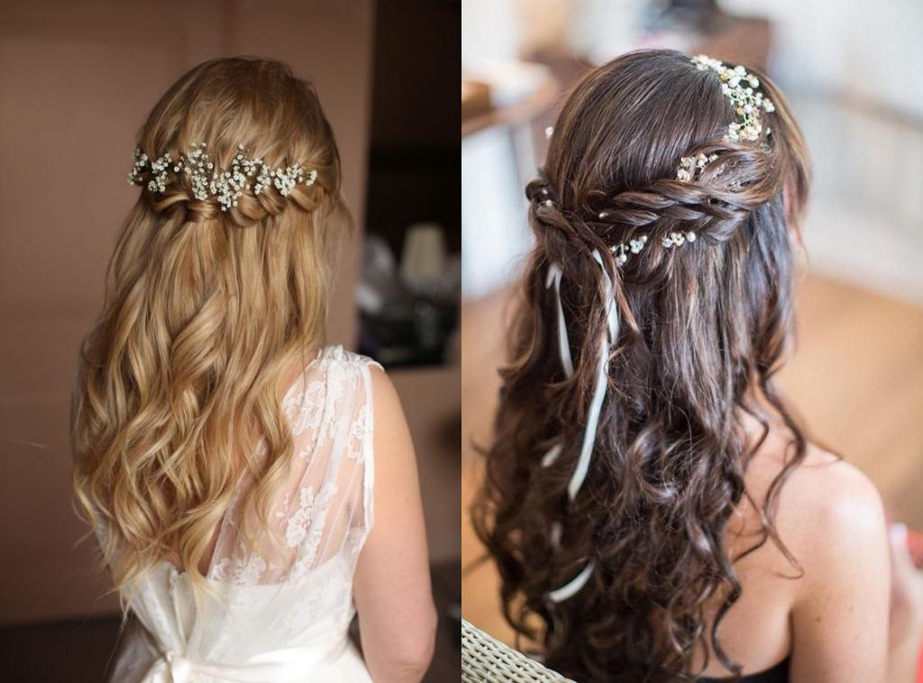 tóc cô dâu mặc áo dài