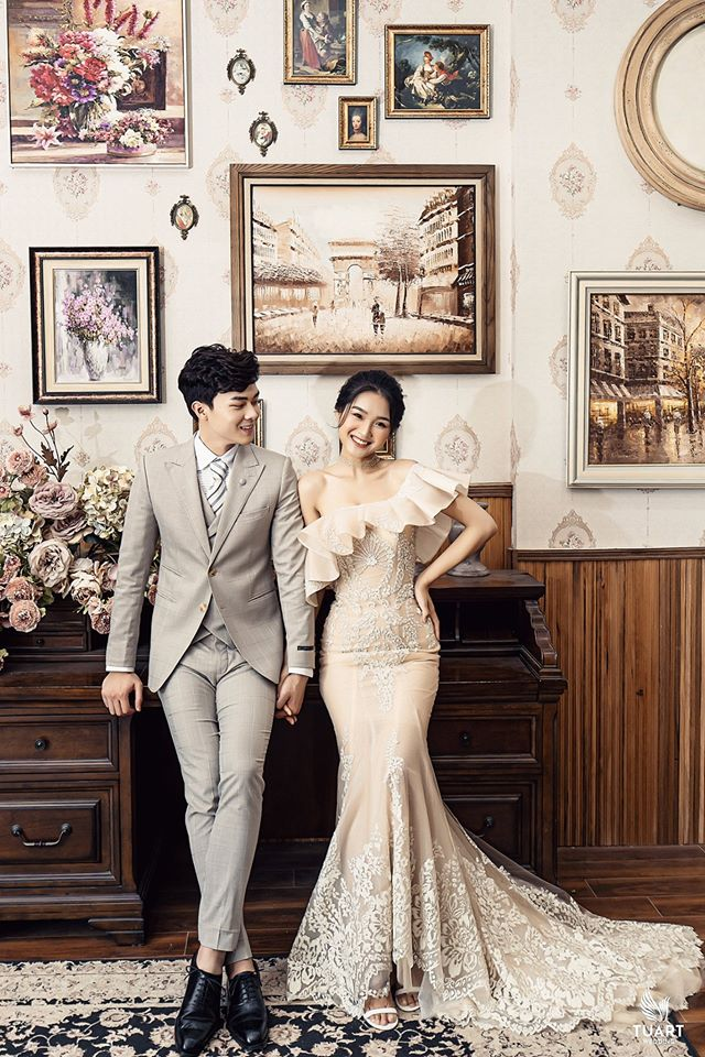 Album ảnh cưới đẹp Hàn Quốc tại phim trường Santorini Hà Nội 6