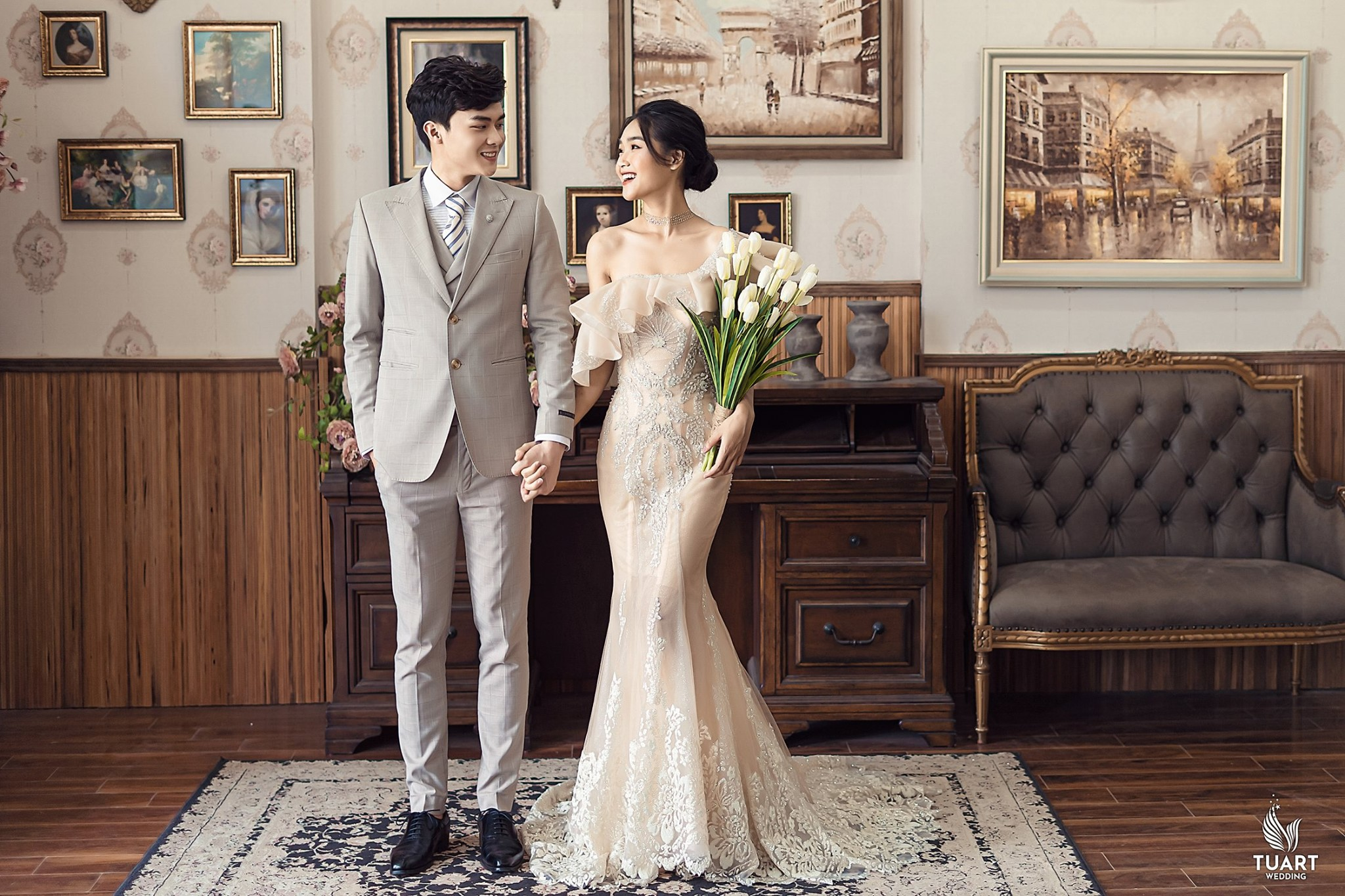 Album ảnh cưới đẹp Hàn Quốc tại phim trường Santorini Hà Nội 11