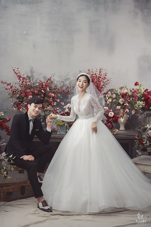 Album ảnh cưới đẹp Hàn Quốc tại phim trường Santorini Hà Nội 17