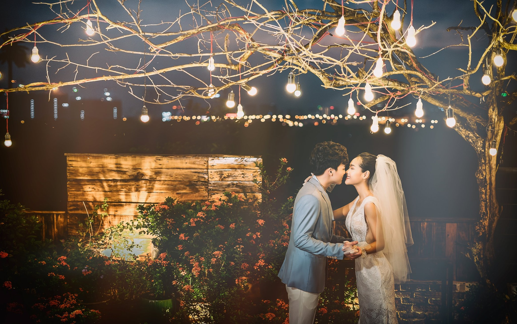 Album ảnh cưới đẹp Hàn Quốc tại phim trường Santorini Hà Nội 25