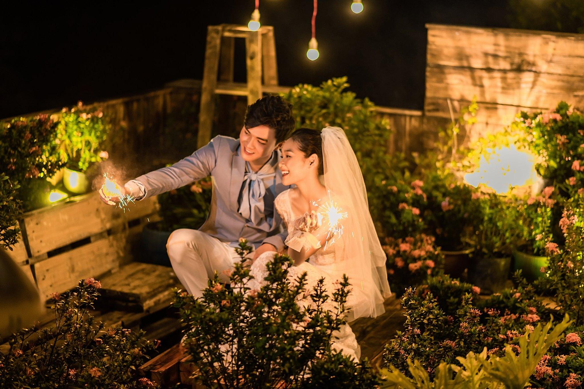 Album ảnh cưới đẹp Hàn Quốc tại phim trường Santorini Hà Nội 29