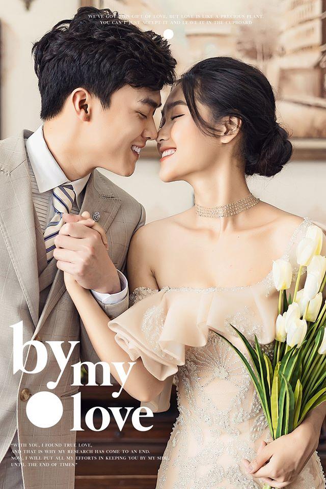 Album ảnh cưới đẹp Hàn Quốc tại phim trường Santorini Hà Nội