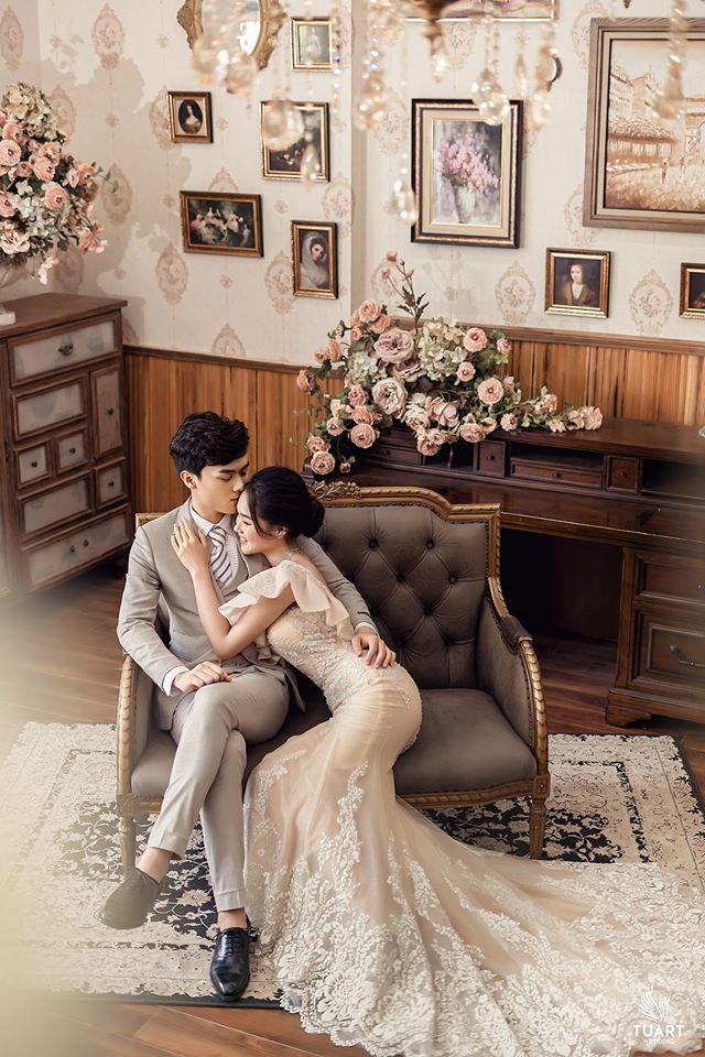 Album ảnh cưới đẹp Hàn Quốc tại phim trường Santorini Hà Nội 10