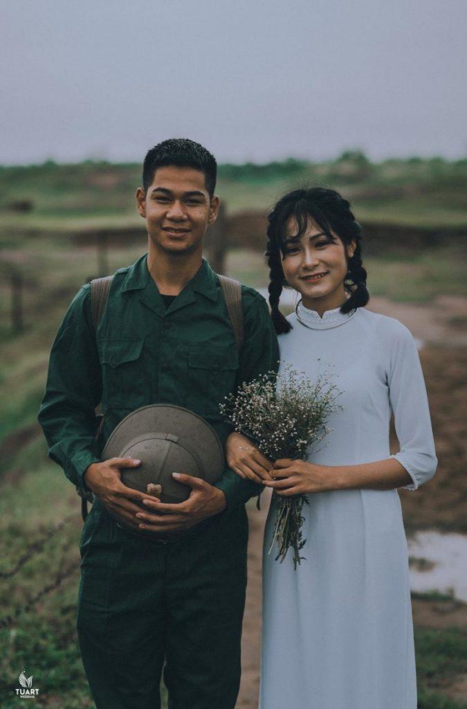 ảnh cưới quân phục
